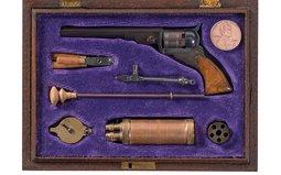 Miniature Colt Paterson Revolver with Accessories