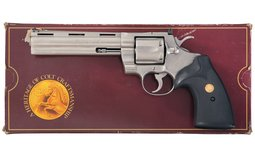 Stainless Steel Colt Python Double Action Revolver with Box