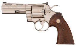 Colt Python Double Action Revolver with Desirable Nickel Finish