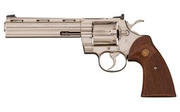 Desirable Nickel Colt Python Double Action Revolver