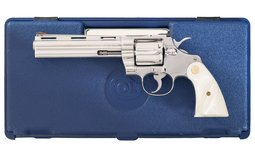 Colt Ultimate Stainless Python Double Action Revolver with Case