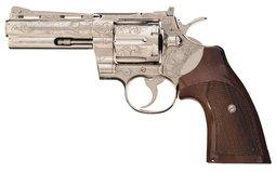 Engraved Colt Python Double Action Revolver