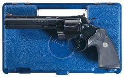 Colt Python Double Action Revolver with Case