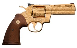 Colt Python Revolver Tom Hartliep Engraved and Gold Plated