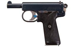 Early Production Webley & Scott Model 1905 Semi-Automatic Pistol