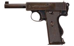 Webley & Scott Model 1913 Mark I Navy Semi-Automatic Pistol