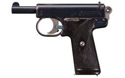 Early Webley & Scott Model 1905 Semi-Automatic Pistol