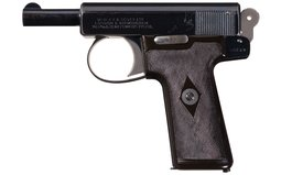 Excellent Webley & Scott Model 1908 Semi-Automatic Pistol