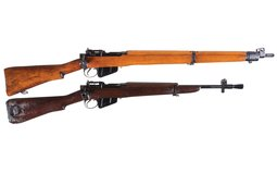 Two British SMLE/Enfield Bolt Action Long Guns