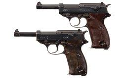 Two World War II Nazi P-38 Semi-Automatic Pistols