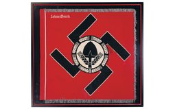 Framed Reichs Labor Service Honor Flag