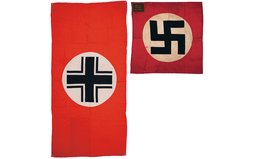 NSBO Miner's Union Flag and a Nazi Aerial Identification Drape