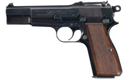 Nazi FN High Power Pistol with Tangent Sight and Holster