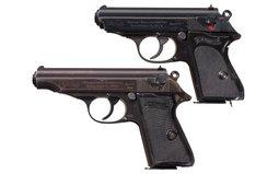 Two World War II Walther Semi-Automatic Pistols