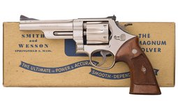 Nickel Plated S&W Pre-Model 27 Revolver with Box