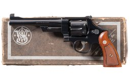 S&W 44 Hand Ejector Fourth Model Target Revolver with Box