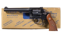 S&W Model K-22 Masterpiece Pre-Model 17 Revolver with Box