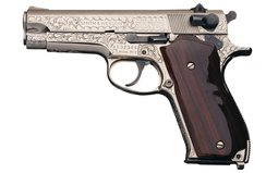 Engraved Smith & Wesson Model 39-2 Semi-Automatic Pistol