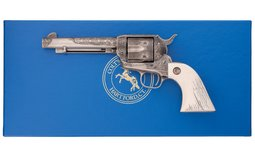 Engraved 3rd Gen. Colt Single Action Army Revolver