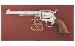 Factory Engraved Colt 3rd Generation Single Action Army Revolver