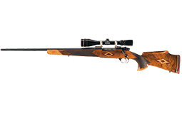 Left Hand Weatherby Mark V Bolt Action Rifle with Scope