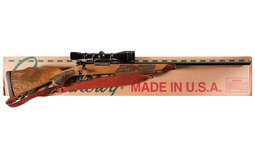 Weatherby Mark V Lazermark Bolt Action Rifle with Scope and Box
