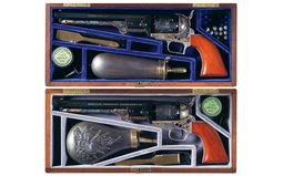 Two Matched Civil War Commemorative Colt Model 1851 Navy