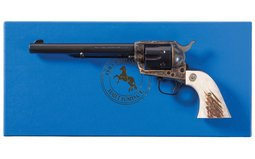 Colt 3rd Gen Single Action Army Revolver with Stag Grips and Box