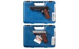 Two Springfield Armory (Inc.) Semi-Automatic Pistols with Cases