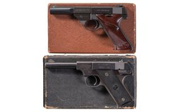 Two High Standard Semi-Automatic Pistols with Boxes