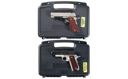 Two Kimber Semi-Automatic Pistols with Cases