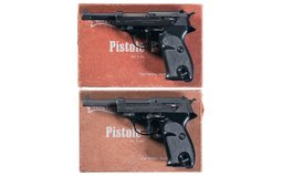 Two Walther Semi-Automatic Pistols with Boxes