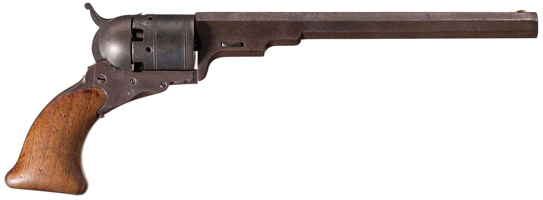 rare colt texas paterson no 5 revolver with period holster