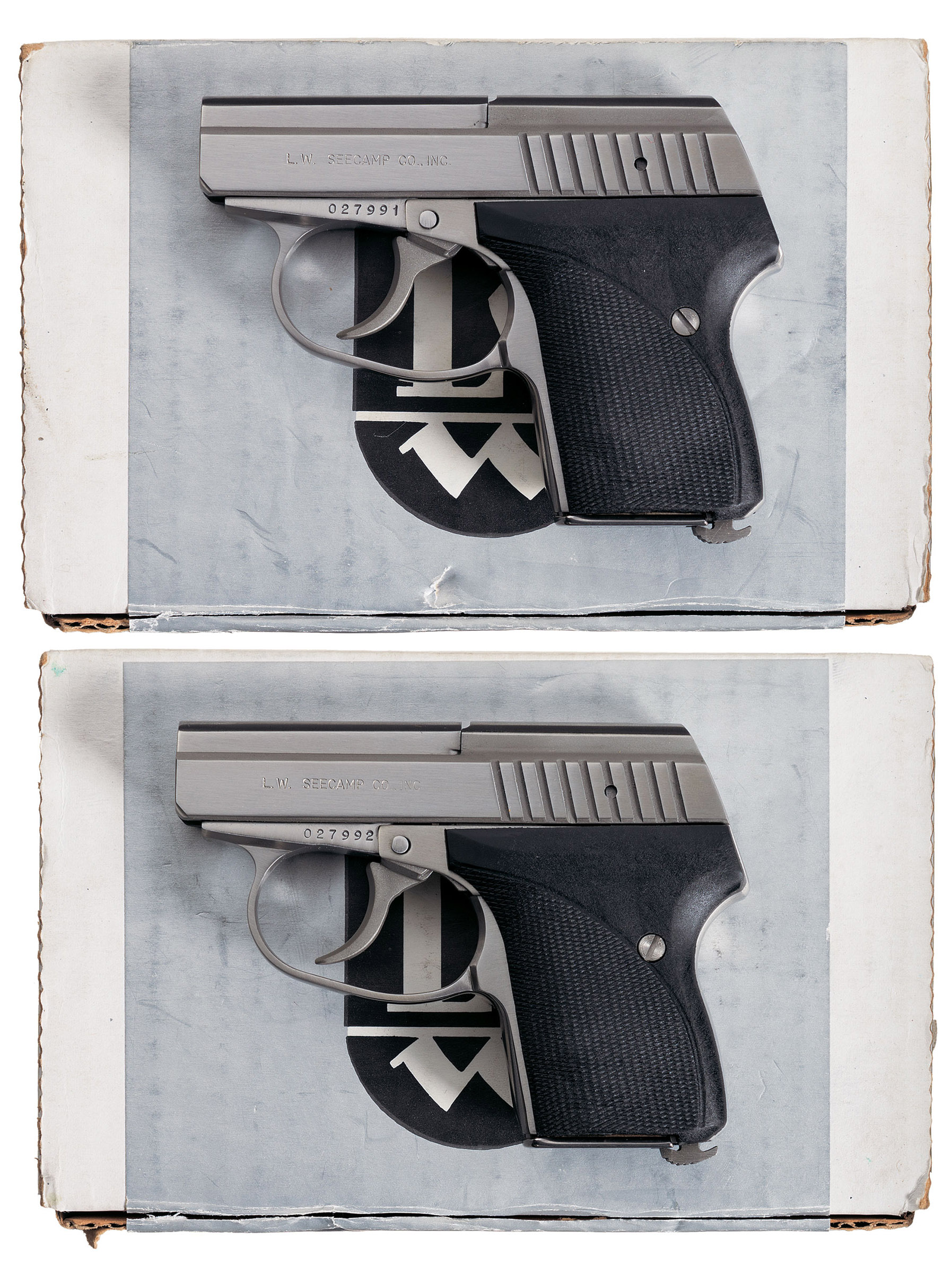 Two Consecutively Serial Numbered Seecamp LWS 32 ACP Pistols