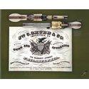 Factory Engraved Tri-Color, Carved Grip Colt Model 1862 Revolver