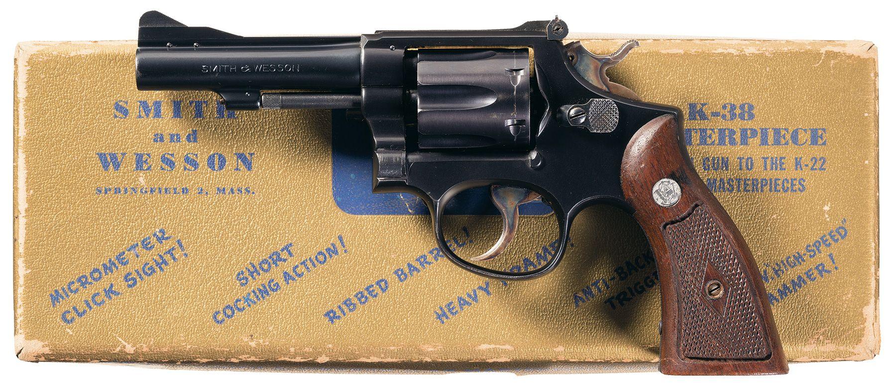 S&W K-38 Combat Masterpiece (Pre-Model 15) Revolver with Box