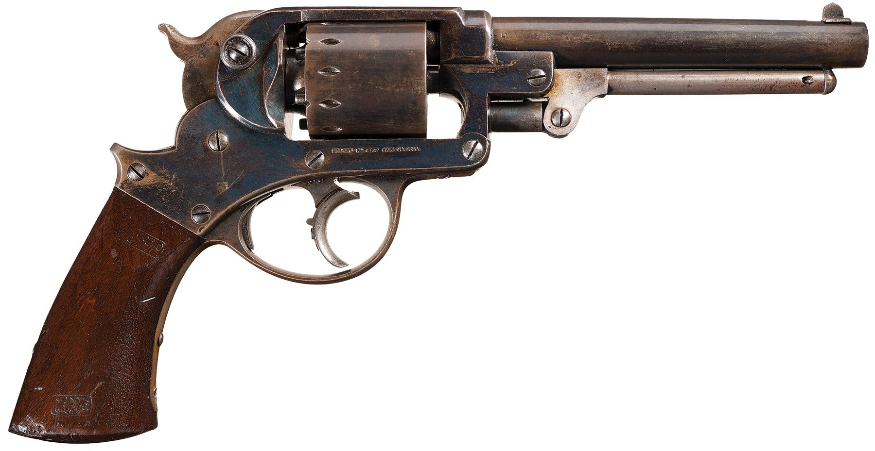 u s  civil war star model 1858 army double action revolver