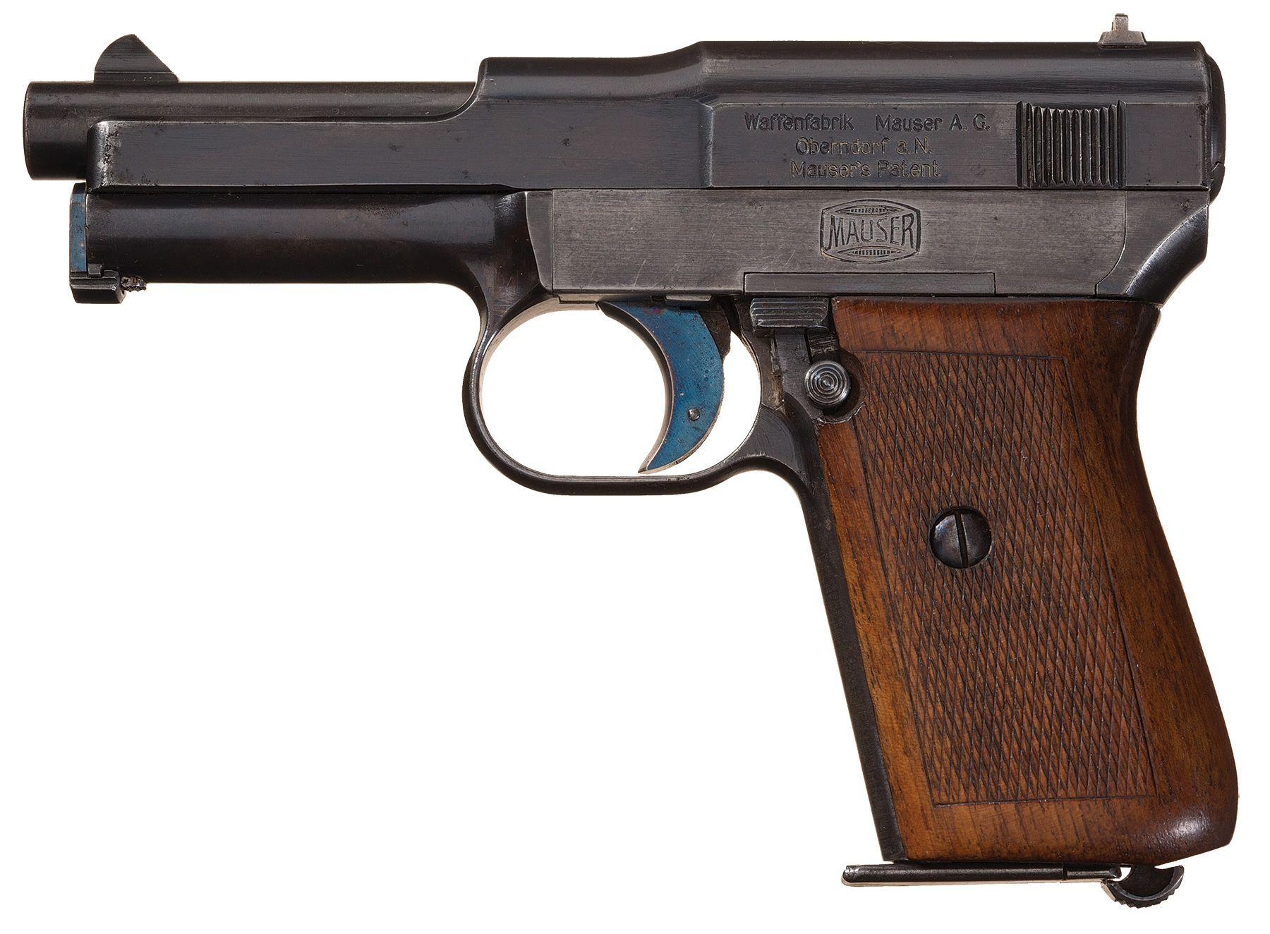 rare early mauser model 1914 humpback semi automatic pistol