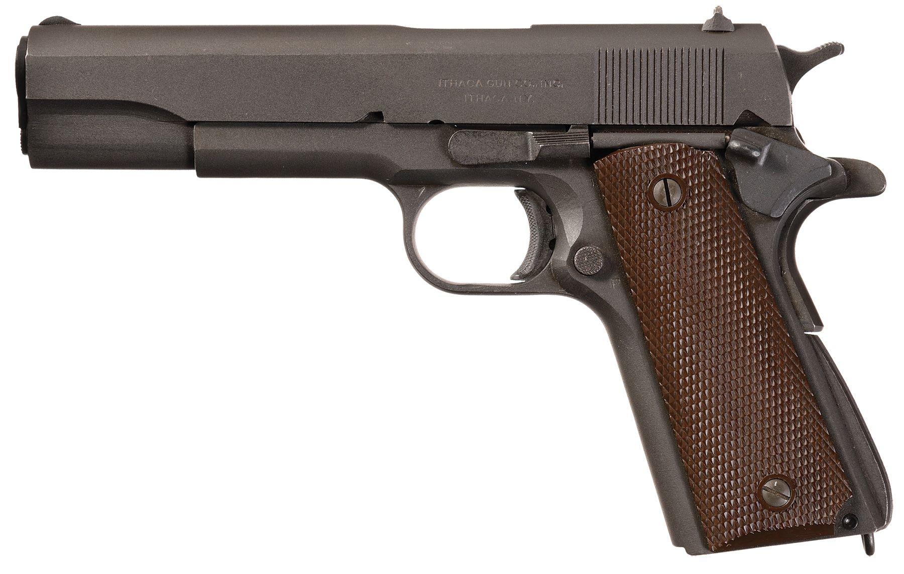 U S  Ithaca Model 1911A1 Pistol, 1945 Production