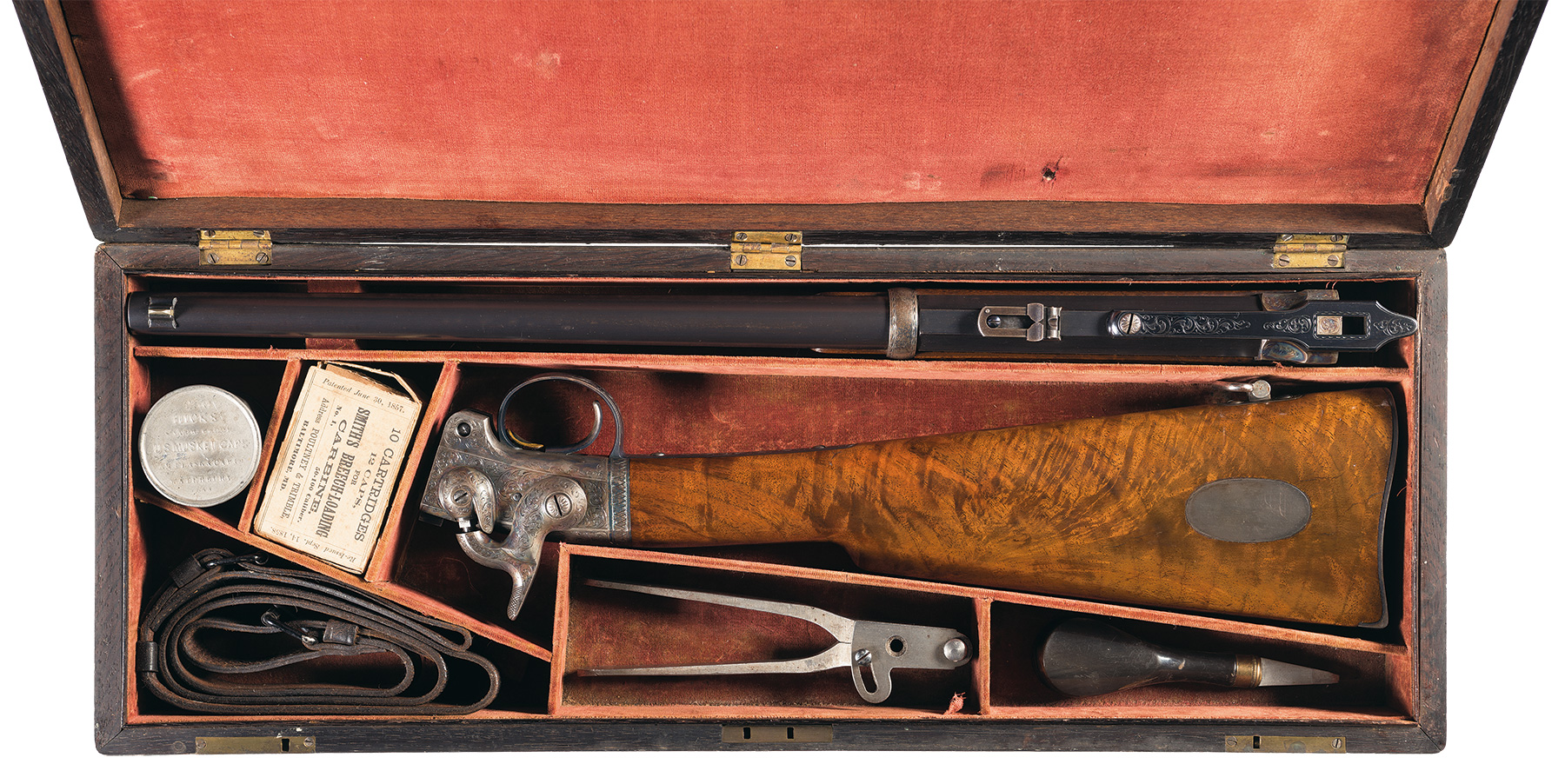 Gustave Young Presentation Engraved Smith Patented Carbine