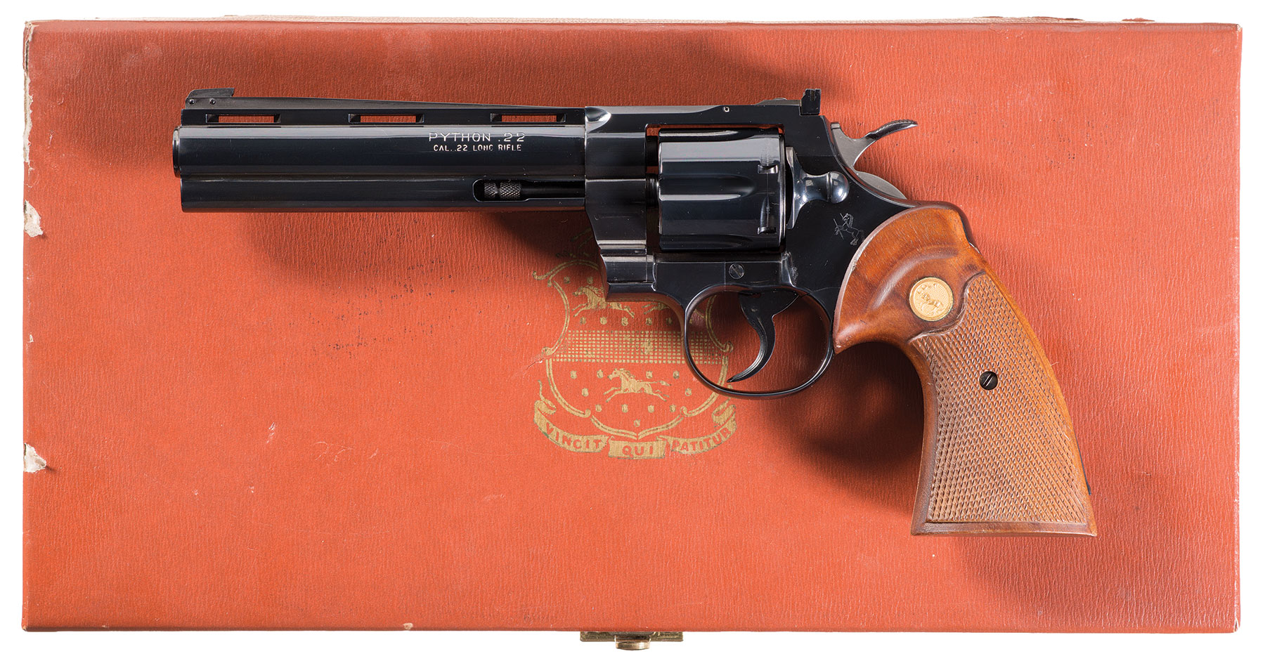 Extremely Rare Colt Python Double Action revolver in  22 LR