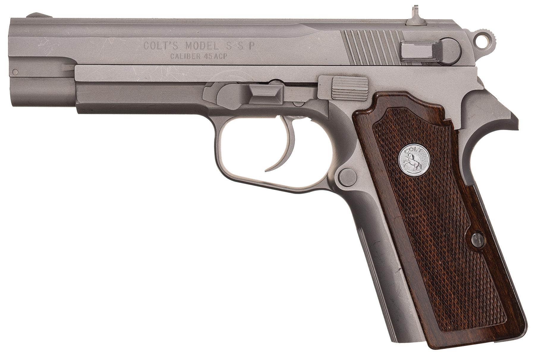 Rare Colt Ssp Us Trials Semi Automatic Pistol Model 1911a1 Parts Diagram Lot 1852