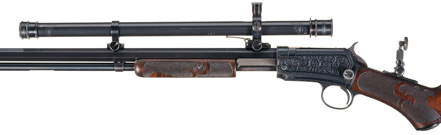 Winchester Model 1890 with Maxim Silencer