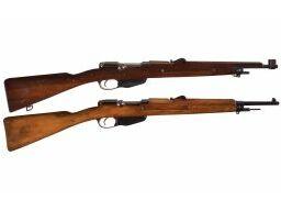Two Dutch Mannlicher Model 1895 Bolt Action Carbines
