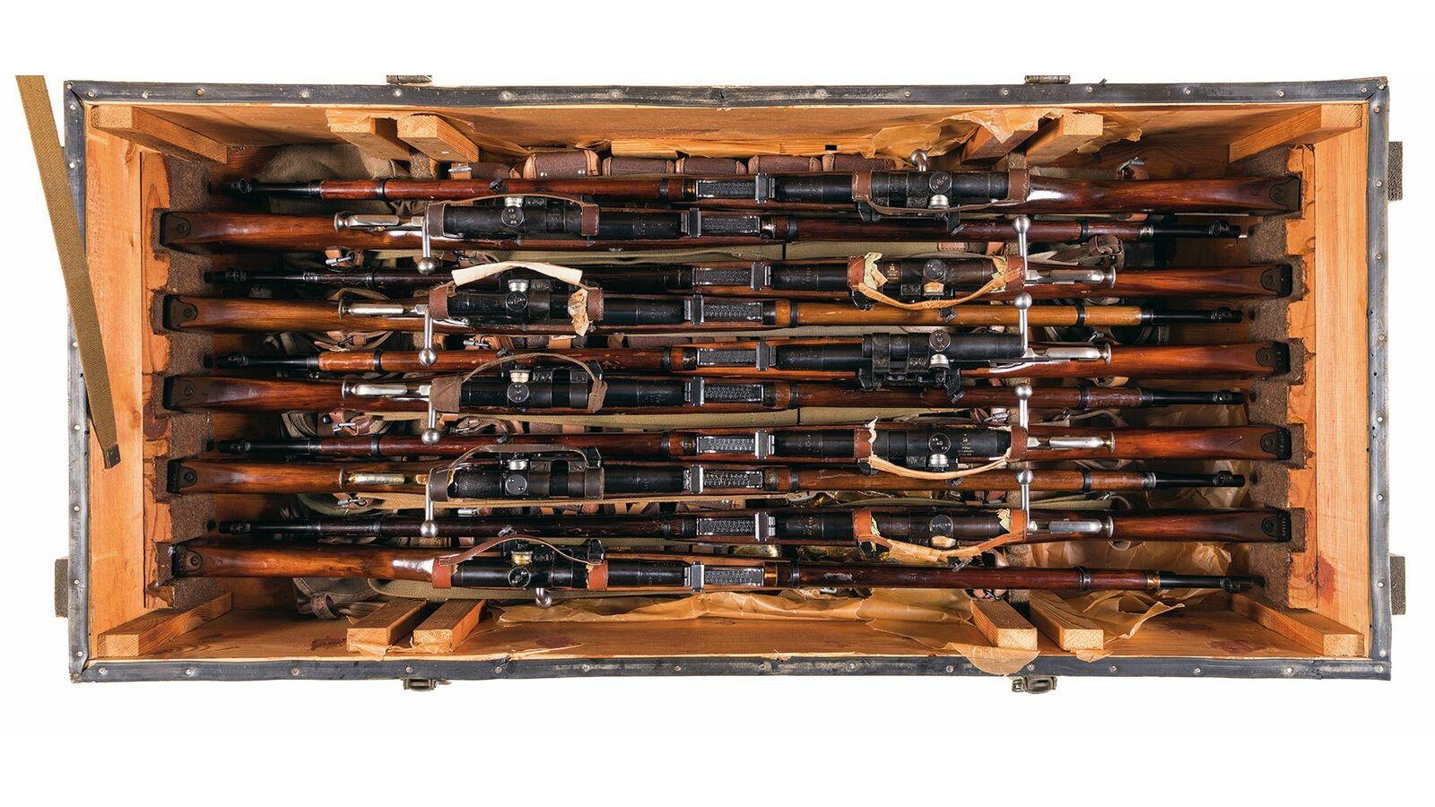 Ten Soviet Mosin Nagant 91 30 Bolt Action Sniper Rifles Parts Diagram Lot 2672