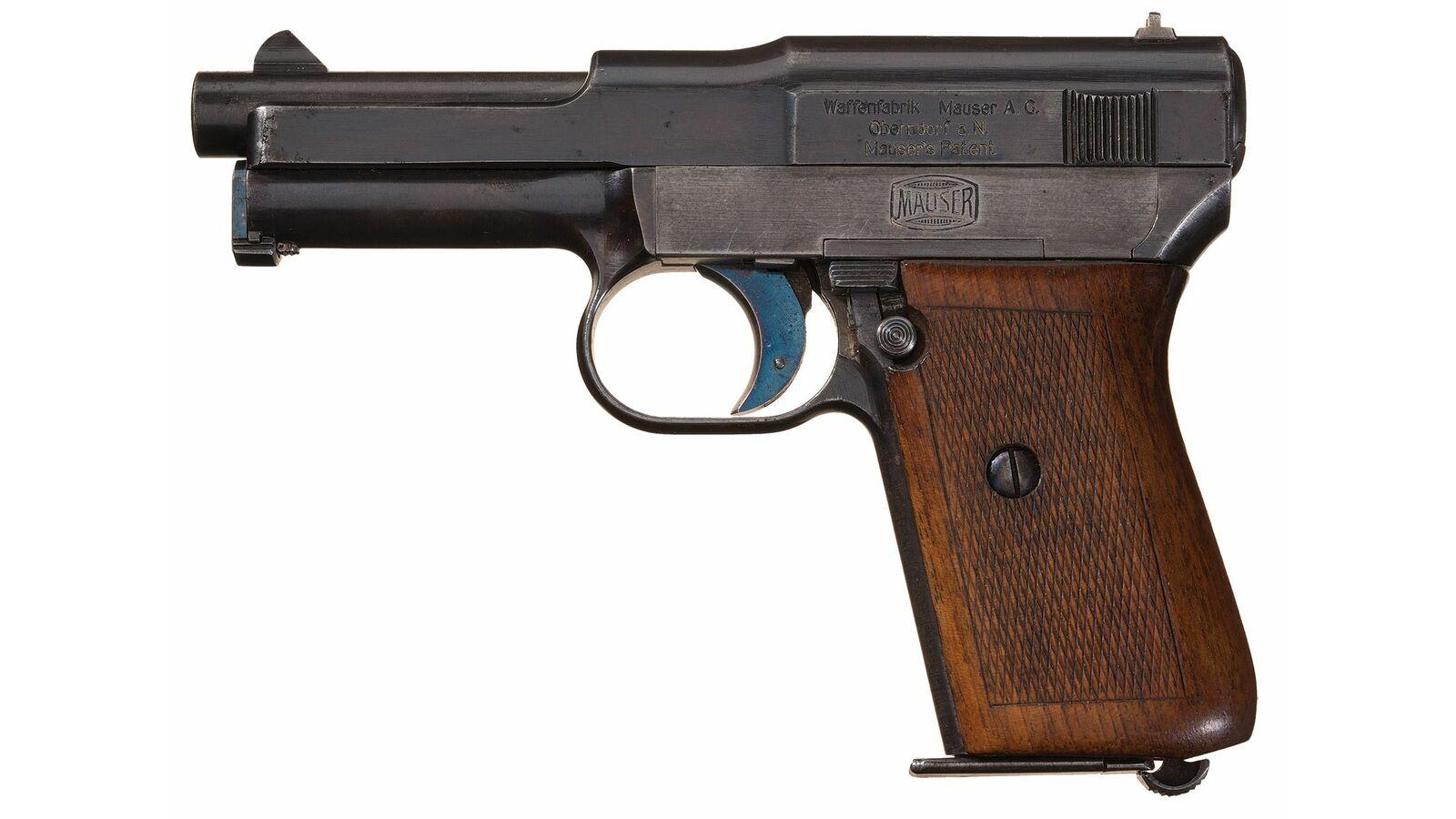 Rare Early Mauser Model 1914 'Humpback' Pocket Pistol