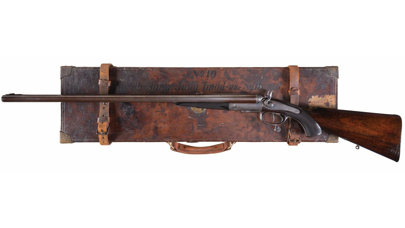 R B  Rodda & Co  Rotary Underlever Double Rifle with Case