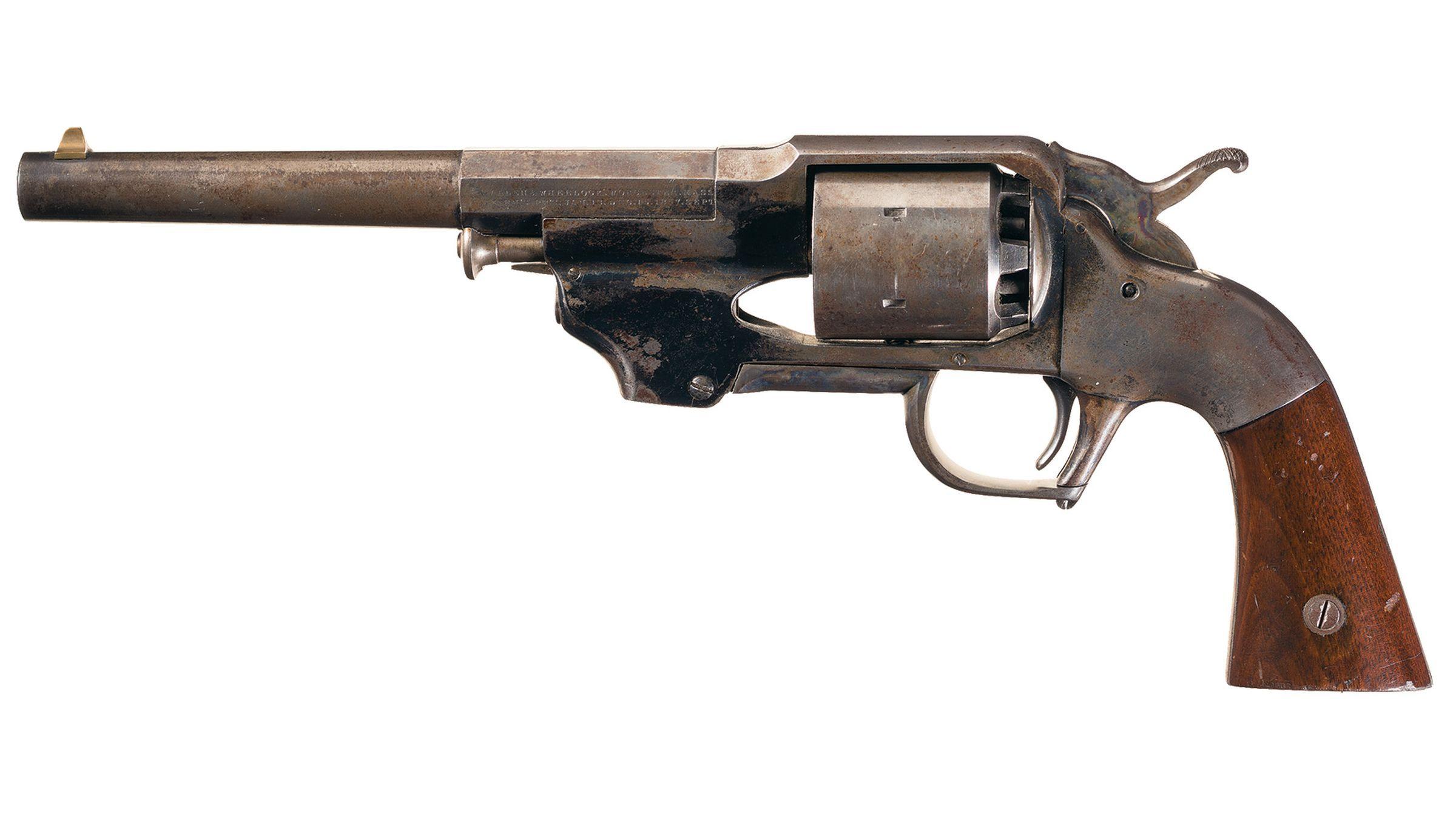 Civil War Era Allen & Wheelock Army Model Center Hammer Revolver