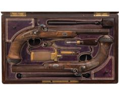LePage Breech Loading Percussion Double Barrel Shotgun