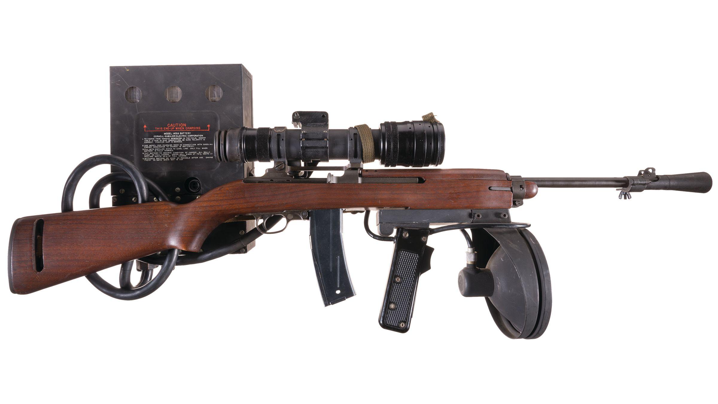 U S  Inland T3 Carbine with M2 Infrared Sniper Scope